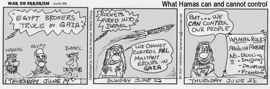 War on Errorism Cartoon by Ray Hanania June 26, 2008