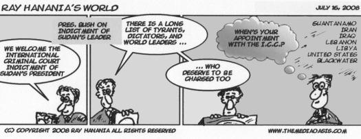 Ray Hanania\'s World Comic Strips July 16, 2008
