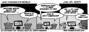 COMIC: Bias in Hollywood keeps great movie on Arabs from Americans, FOR IMMEDIATE RELEASE, Jan. 26, 2009